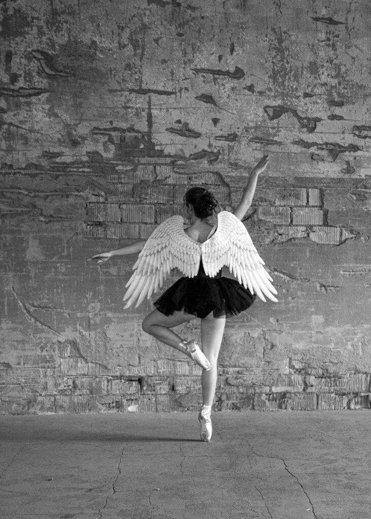 Ein Engel mit guten Wünschen fürs neue Jahr